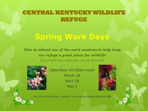 CKWR spring 2015 work days